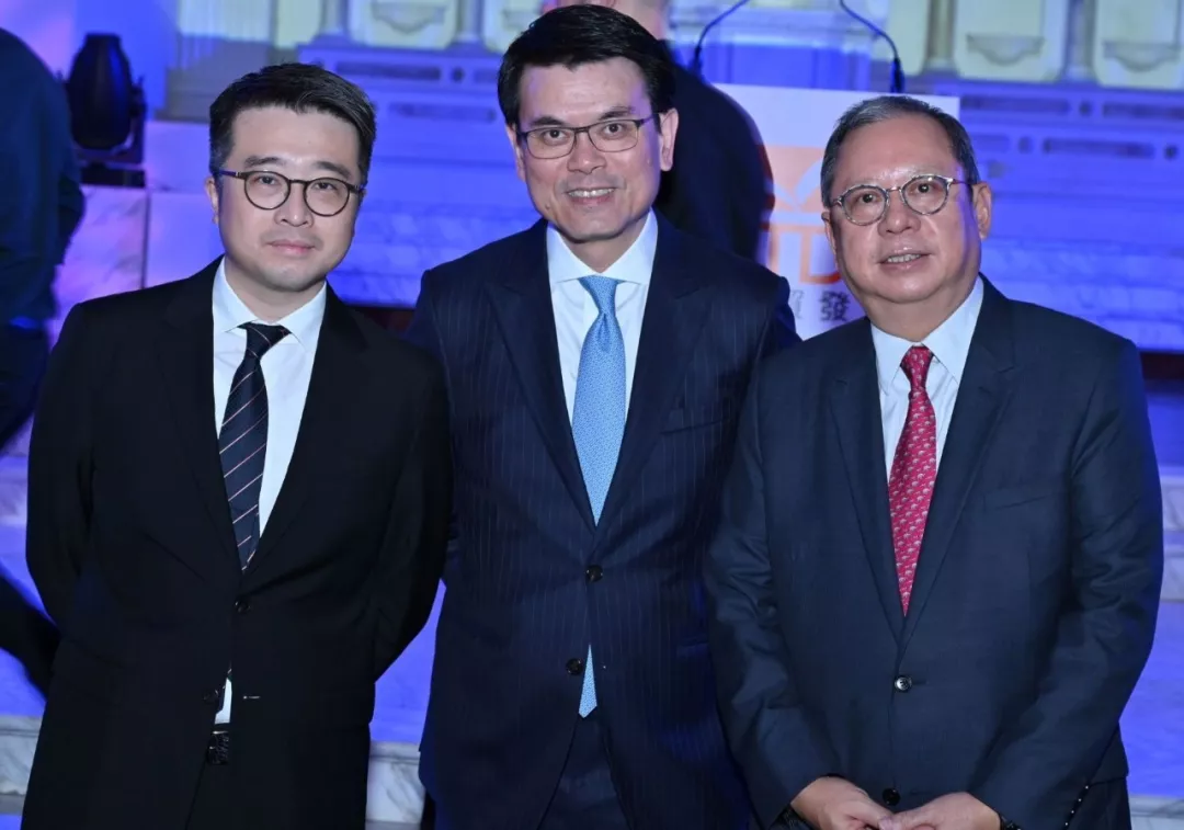 "Calvin Choi was invited to attend the ""Think Asia, Think Hong Kong"" symposium organized by HKTDC; Edward Yau, Bernard Chan and Peter Lam officiated the event"